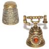 Колокольчики, наперстки: латунь и янтарь