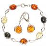 Cерьги, браслеты: серебро 925 и янтарь