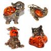 Сувенирные миниатюры: латунь и янтарь