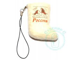 Валенок-брелок Россия олени