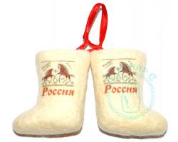 Пара валенок подвеска Россия олени