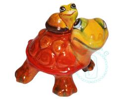 Черепаха с черепашонком майолика