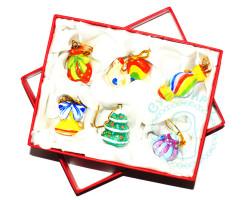 Набор Новогодние игрушки в подарок майолика