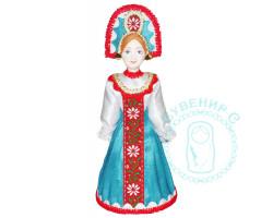 Кукла. Барыня в круглом кокошнике 2