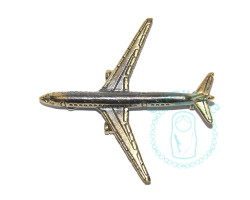 Брошь Самолет ТУ-154 латунь