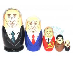 Матрешка Путин шарж 5 кукол