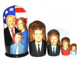 Матрешка Трамп с семьей 5 кукол б.