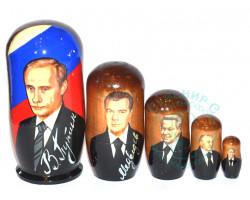 Матрешка Путин 5 кукол м.1