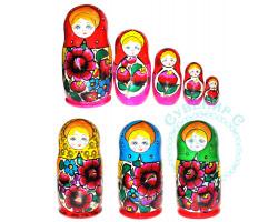 Матрешка 5-ти кукольная Анилинка / в ассортименте