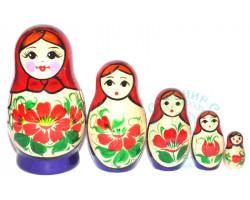 Матрешка Вятка 5 кукол
