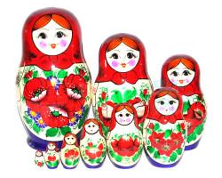 Матрешка Вятка 9 кукол