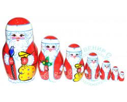 Матрешка Дед Мороз 7 кукол большая