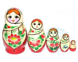 Матрешка Сударушка 5 кукол