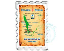 Магнит Карта Сахалинской области 1