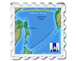 Магнит Карта Сахалинской области 2
