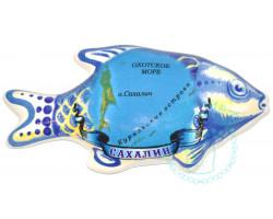 Магнит керамический Рыба Сахалин