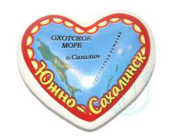 Магнит керамический Сердце Южно-Сахалинск