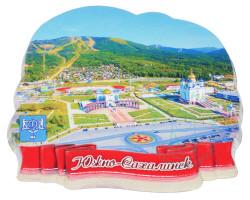 Магнит Пл.Победы лето г.Южно-сахалинск поликерамика