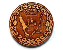 Магнит Сахалин-Курилы береста