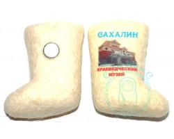Валенок-магнит Краеведческий музей-Сахалин