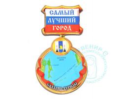 Магнит медаль Сахалин-Курилы