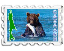 Магнит Сахалин Медведь BIG