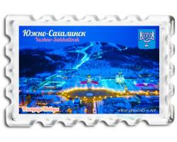 Магнит Южно-Сахалинск Площадь Победы зима ночь  BIG