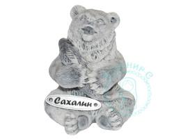 Медвежонок с рыбой 3 мрамор.кр.