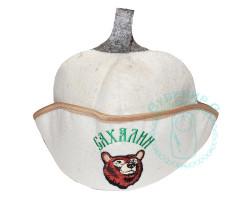 Банный колпак треуголка Сахалин мишка