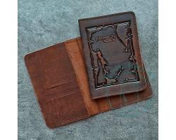 Обложка на паспорт Sakhalin region / кофейный2