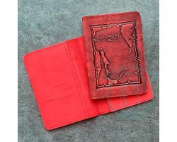 Обложка на паспорт Sakhalin region / красный2