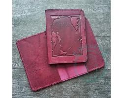 Обложка на паспорт Sakhalin region / свекольный1