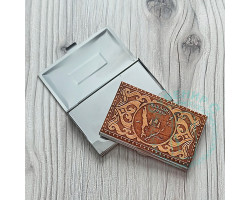 Визитница Сахалин-Курилы береста-металл