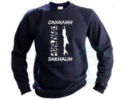 Толстовка Сахалин-Курилы-65 серый меланж