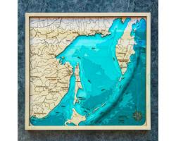 Картина Сахалинская область 60х60см под стеклом