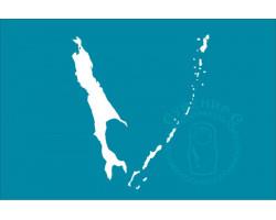 Флаг Сахалинской области 90х135 флажная сетка