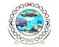 Тарелка Южно-Сахалинск зима D 17,5 белый
