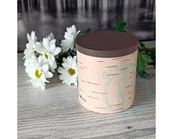 Экоконтейнер б/б 11,5х10х10- крышка цвета кофе
