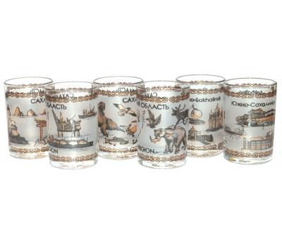 Стопки Сахалин стекло (набор из 3 шт)