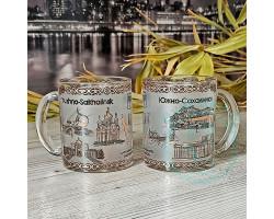 Кружка чайная стекло Южно-Сахалинск 300мл