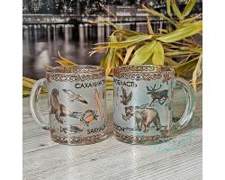 Кружка чайная стекло Сахалин-животный мир 300мл