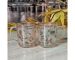 Кружка чайная стекло Сахалин-животный мир 250 мл