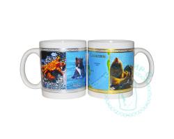 Кружка чайная керамическая Сахалин животные