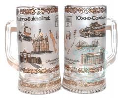 Кружка пивная стекло 0,33 л Южно-Сахалинск