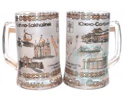 Кружка пивная стекло 0,5 л Южно-Сахалинск