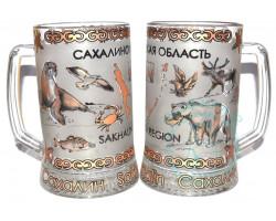 Кружка пивная стекло 0,5 л Сахалин-животный мир