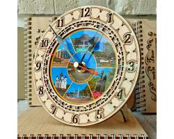 Часы Южно-Сахалинск лето D15 фанера