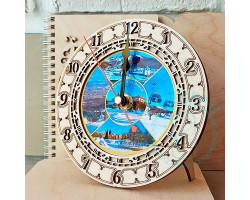 Часы Южно-Сахалинск зима D15 фанера