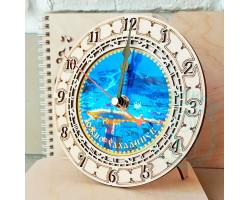 Часы Южно-Сахалинск Площадь Победы D15 фанера