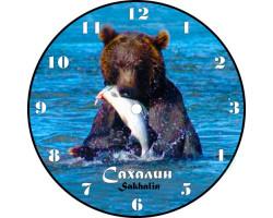 Часы-магнит D 10 Сахалин Медведь